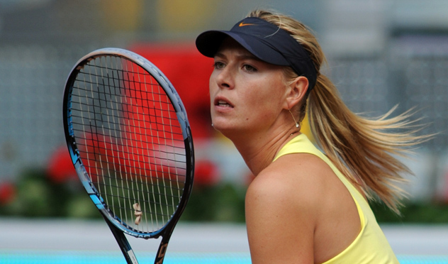 Sharapova con raqueta Head