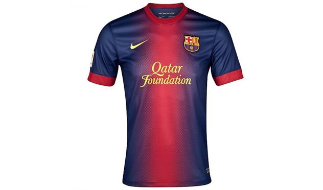 Equipación del Barcelona.