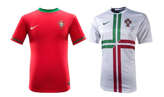 """<strong>Portugal</strong> (Nike). """"Demasiado amor por los colores de su bandera... Ninguna de las dos aprueban""""."""