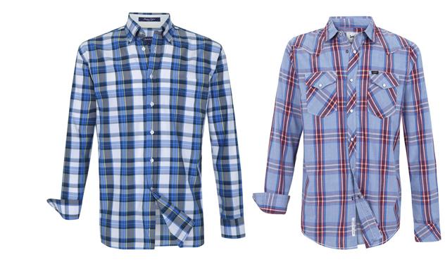 Camisas de cuadros de Gant y Lee.
