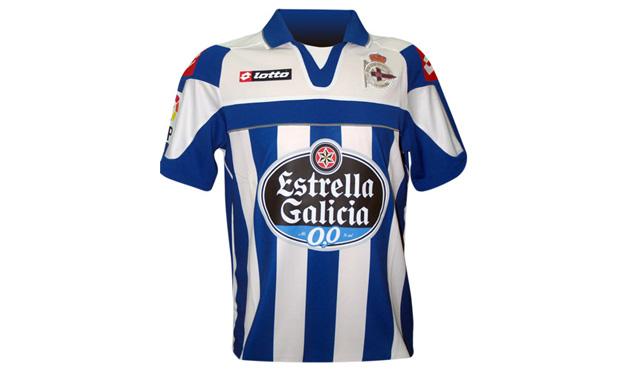 Equipación del Deportivo de La Coruña.
