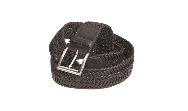 Cinturón trenzado de piel de Lloyd's.