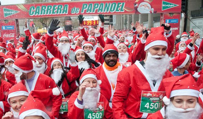 La Carrera de Papá Noel mete a Madrid en el Guinness