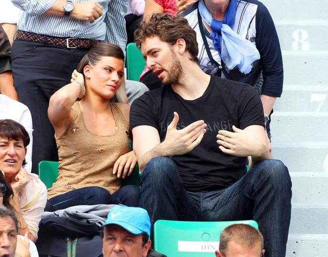 Pau Gasol y Silvia López